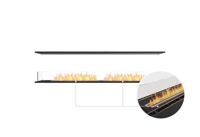 Flex 86IL Island - Ethanol - Black / Black / Installed View by EcoSmart Fire