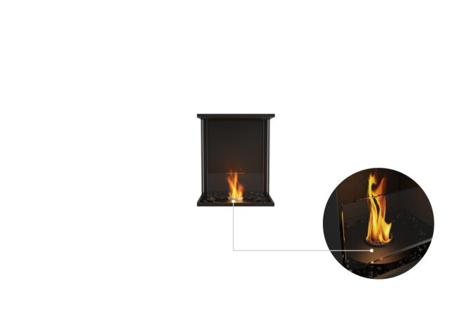 Flex 18 - Ethanol - Black / Black / Installed View by EcoSmart Fire