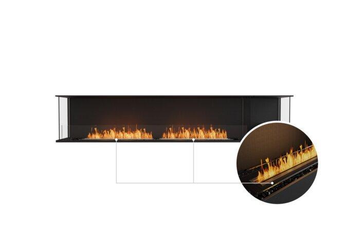 Flex 104 - Ethanol - Black / Black / Installed View by EcoSmart Fire