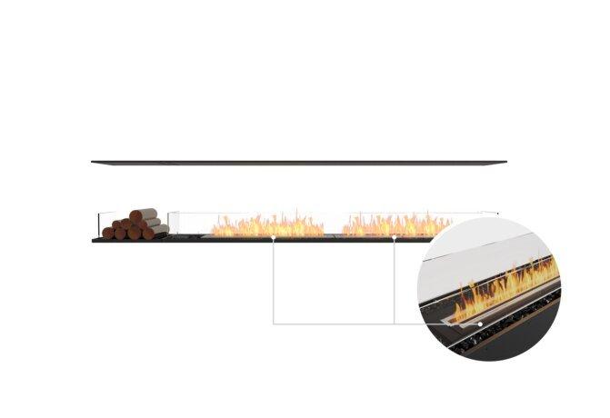 Flex 104IL.BX1 Island - Ethanol - Black / Black / Installed View by EcoSmart Fire