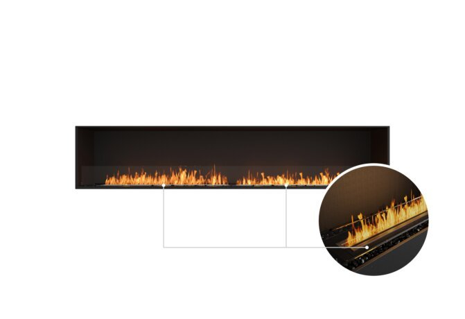 Flex 104SS Single Sided - Ethanol - Black / Black / Installed View by EcoSmart Fire