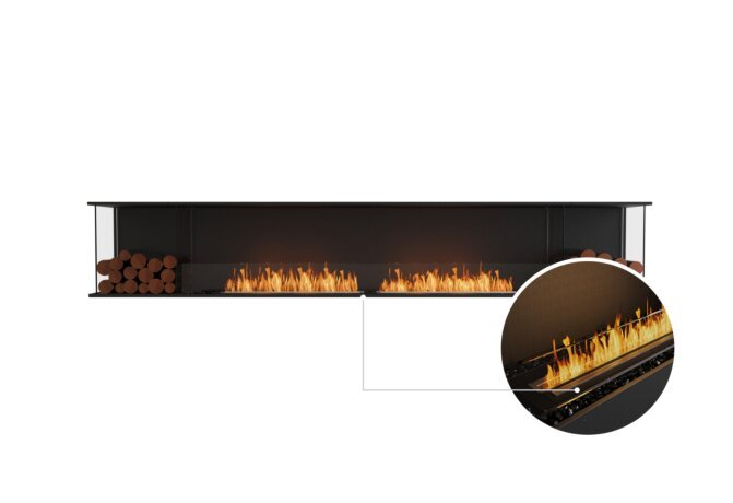 Flex 122 - Ethanol - Black / Black / Installed View by EcoSmart Fire