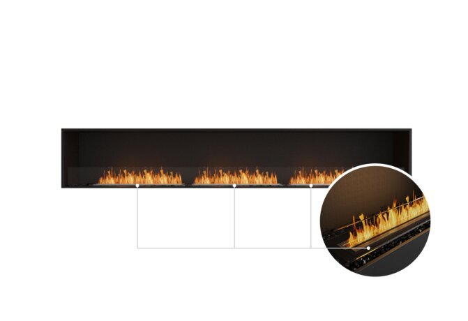 Flex 122SS Single Sided - Ethanol - Black / Black / Installed View by EcoSmart Fire