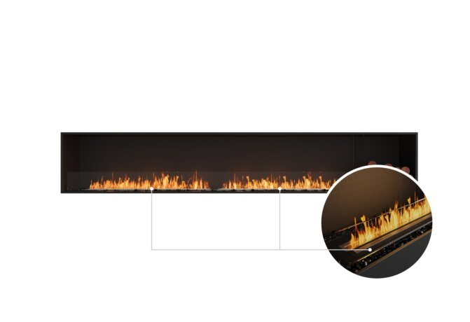 Flex 122SS.BXR Single Sided - Ethanol - Black / Black / Installed View by EcoSmart Fire
