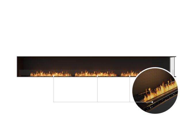 Flex 158RC Right Corner - Ethanol - Black / Black / Installed View by EcoSmart Fire