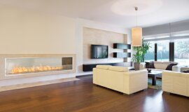 Living Area Apartment Fireplaces Built-In Fire Idea