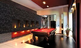 Billiard Room Indoor Fireplaces Built-In Fire Idea