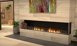 Lounge Area Fireplace Inserts Built-In Fire Idea