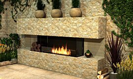 Outdoor Setting Fireplace Inserts Built-In Fire Idea
