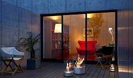 Private Residence Outdoor Fireplaces Freestanding Fire Idea