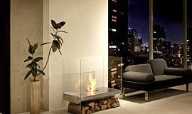 Private Residence Indoor Fireplaces Freestanding Fire Idea