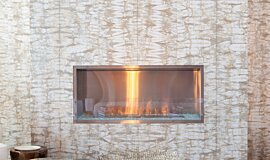 W Residence Single Sided Fireboxes XL Burners Built-In Fire Idea