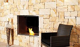 EcoOutdoor Double Sided Fireboxes BK Burners 嵌入式燃烧室 Idea