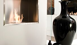 Fuorisalone Single Sided Fireboxes BK Burners Fireplace Insert Idea