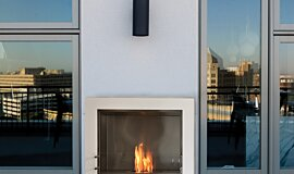 Private Residence Apartment Fireplaces Built-In Fire Idea
