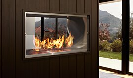 Private Residence Double Sided Fireboxes Built-In Fire Idea