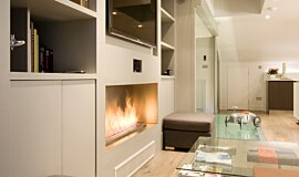 Private Residence Apartment Fireplaces Fireplace Insert Idea
