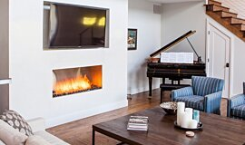 Studio City Single Sided Fireboxes XL Burners Built-In Fire Idea