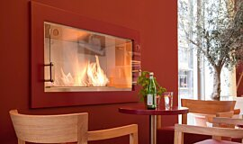 Vapiano, UK Builder Fireplaces Built-In Fire Idea