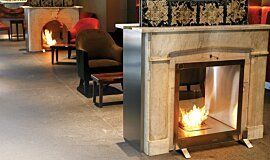 Equilibrium Bar Double Sided Fireboxes BK Burners Fireplace Insert Idea