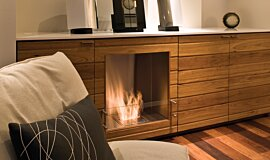 Southern Ocean Lodge Single Sided Fireboxes BK Burners Built-In Fire Idea