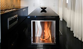 Kitcheners Indoor Fireplaces Built-In Fire Idea