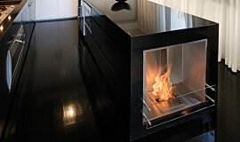 Kitcheners Single Sided Fireboxes BK Burners Built-In Fire Idea