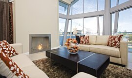 North Coogee Apartment Fireplaces Built-In Fire Idea