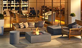 Commercial Space Outdoor Fireplaces Fire Table Idea
