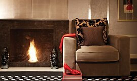 Wyndham Grand Hotel Indoor Fireplaces Built-In Fire Idea