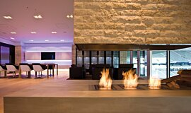 Allianz Arena Indoor Fireplaces Built-In Fire Idea