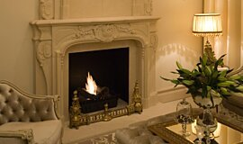 Chateau Couture Indoor Fireplaces Built-In Fire Idea