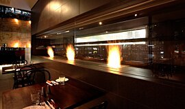 Hurricane's Grill & Bar Indoor Fireplaces Built-In Fire Idea