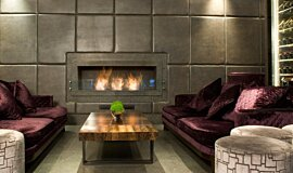 May Fair Bar Indoor Fireplaces Built-In Fire Idea