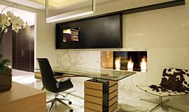 Pepe Calderin Design Indoor Fireplaces Built-In Fire Idea