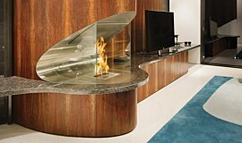 SAAJ Design Indoor Fireplaces Built-In Fire Idea