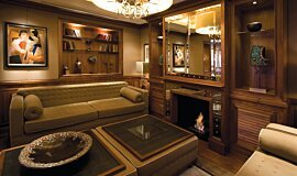 St James Boutique Hotel Indoor Fireplaces Built-In Fire Idea
