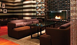 Westin Hotel Indoor Fireplaces Built-In Fire Idea
