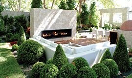 Melbourne International Garden and Flower Show Linear Fires Built-In Fire Idea