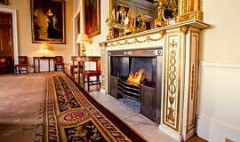 Trinity House Indoor Fireplaces Built-In Fire Idea