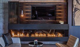 Hillside Residence Indoor Fireplaces Ethanol Burner Idea