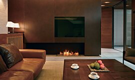 Private Residence Indoor Fireplaces Ethanol Burner Idea