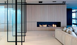 N Apartment Tel Aviv Apartment Fireplaces Built-In Fire Idea