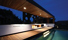 Portsea Private Pool Pavilion XL Series Ethanol Burner Idea
