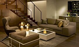 Private Residence Fluid Concrete Technology Fire Table Idea