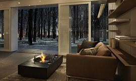 Private Residence Freestanding Fireplaces Fire Table Idea