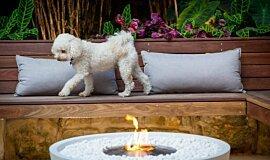 Stone Lotus Landscapes Freestanding Fireplaces Fire Pit Idea
