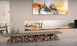 Lounge Area Double Sided Fireboxes Flex Sery Idea