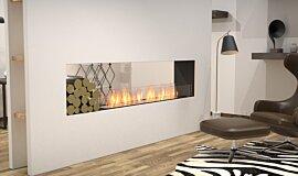 Living Area Double Sided Fireboxes Flex Sery Idea