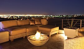New American Home Freestanding Fireplaces Fire Pit Idea